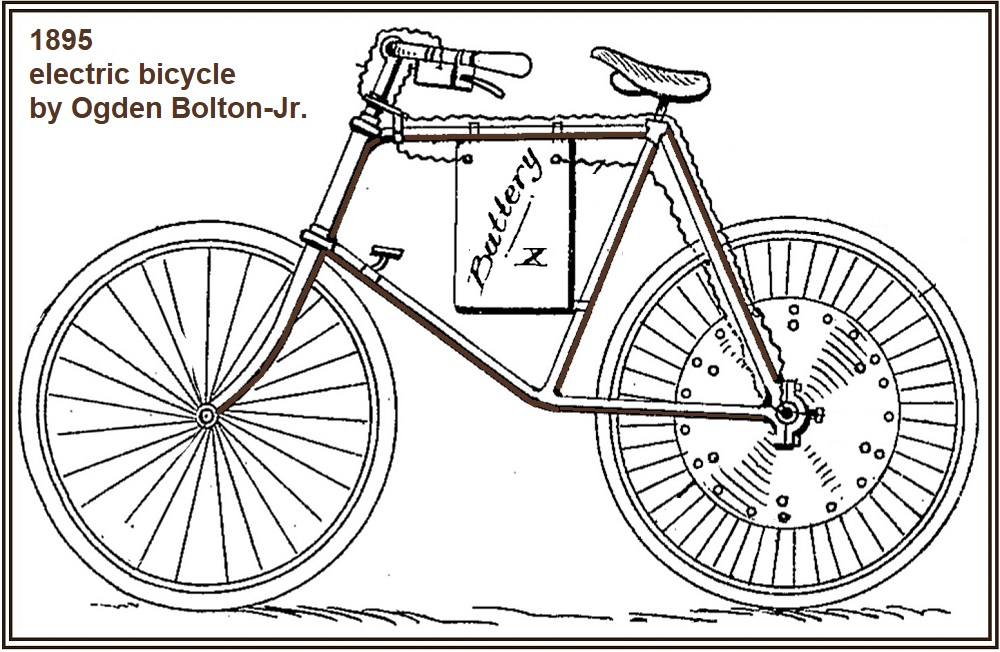 1895 Ogden Bolton Jr. electric bicycle