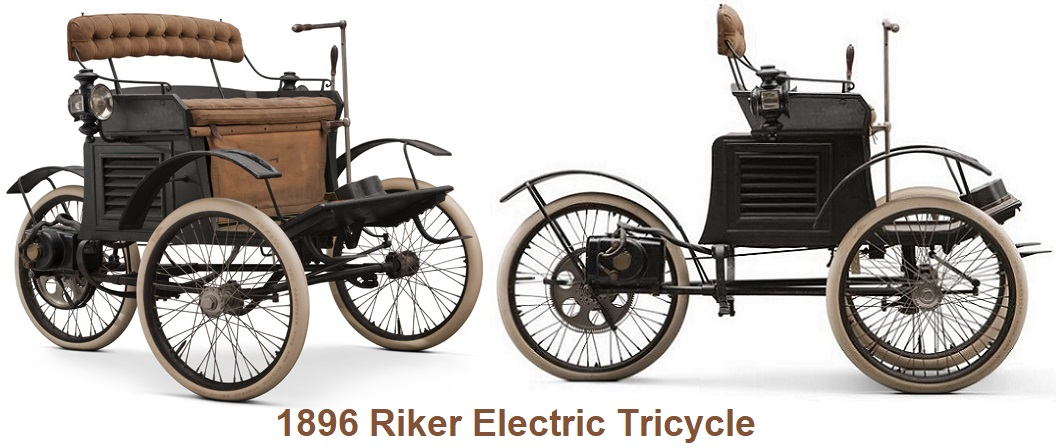 1896 Riker Electric Tricycle