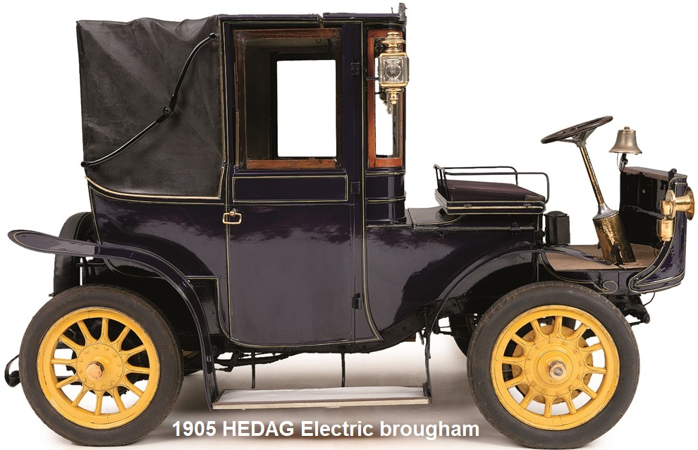 1905 HEDAG ELECTRIC BROUGHAM