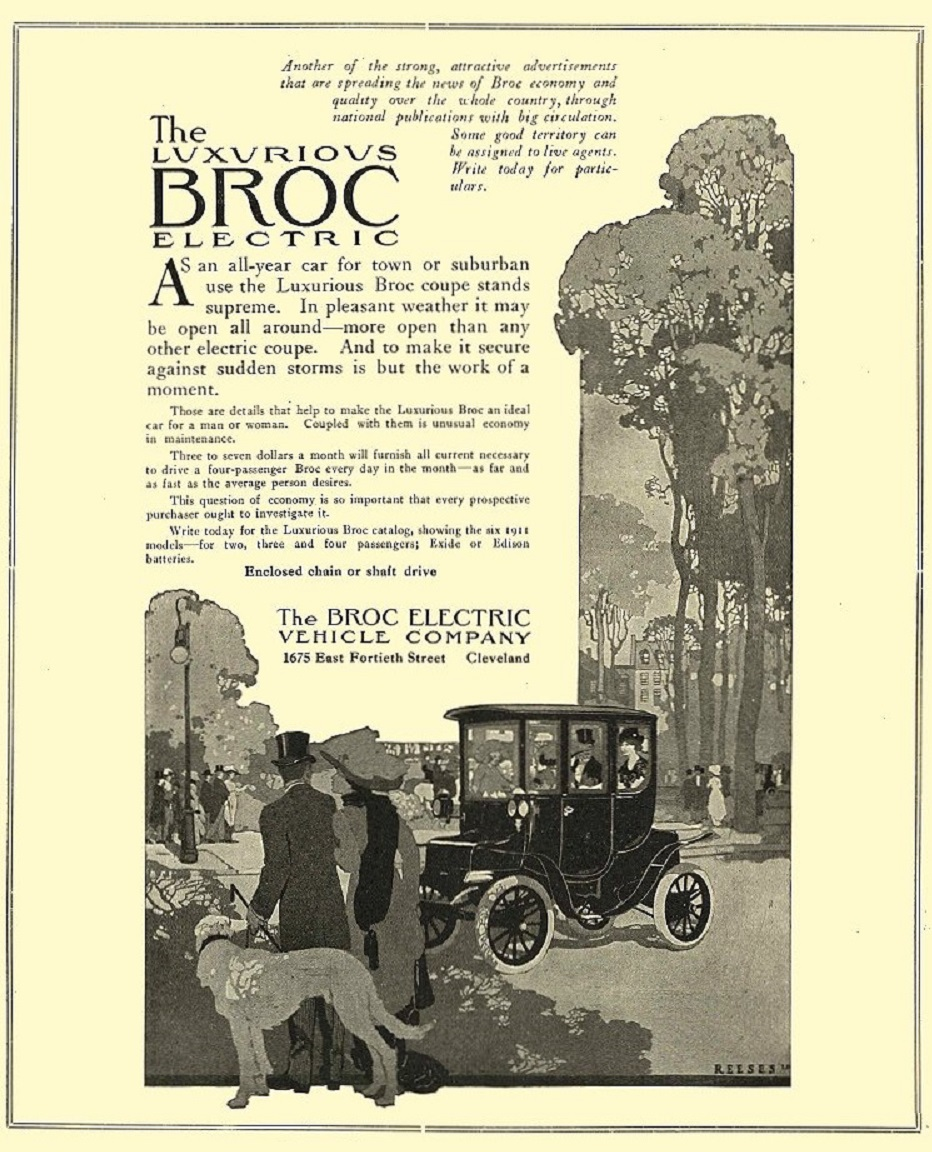 1911 BROC Electric Car The Luxurious BROC
