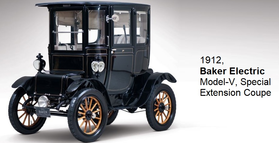 1912 Baker Electric Model V Special Extension Coupe