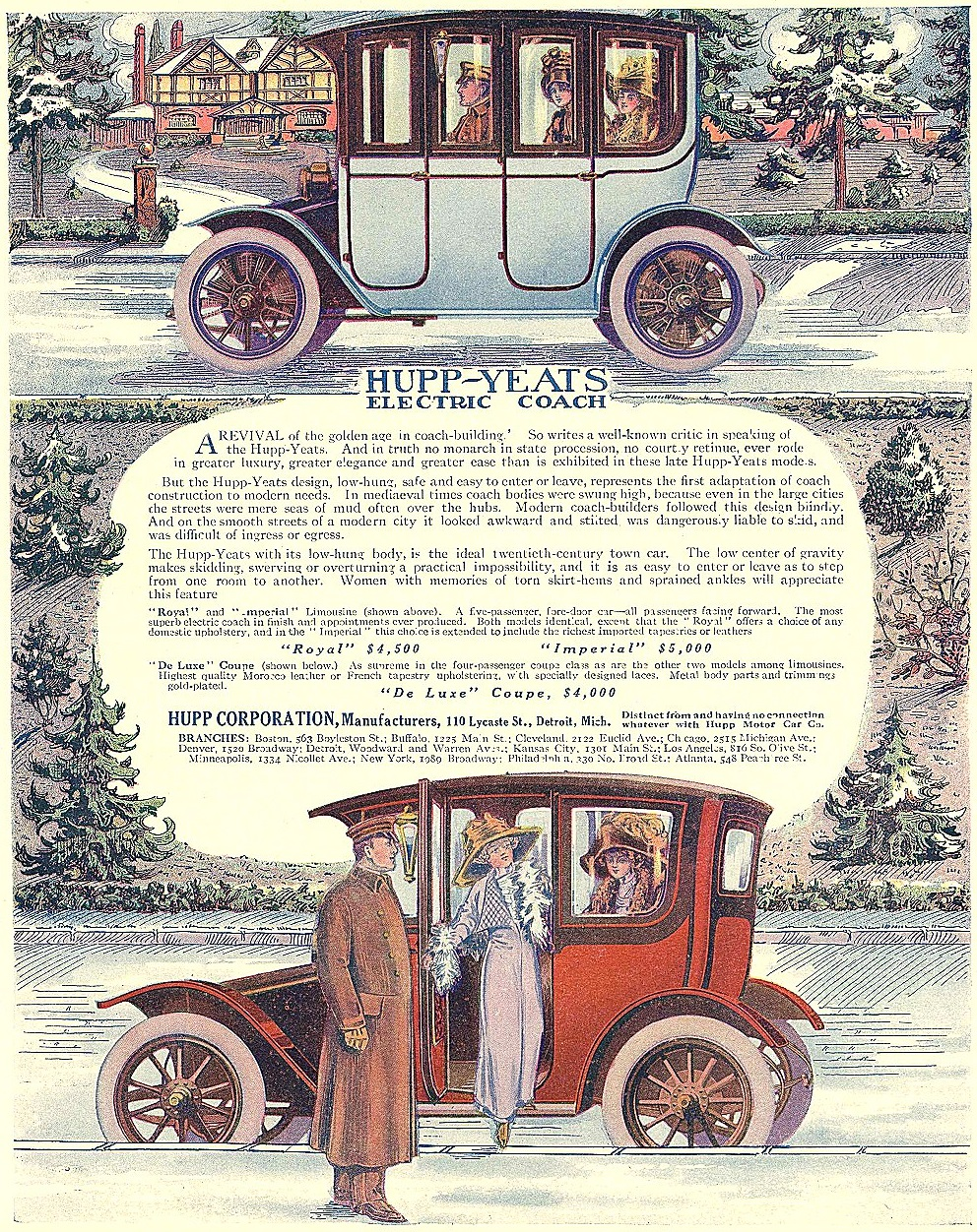 1912 Hupp Yeats Electric Car