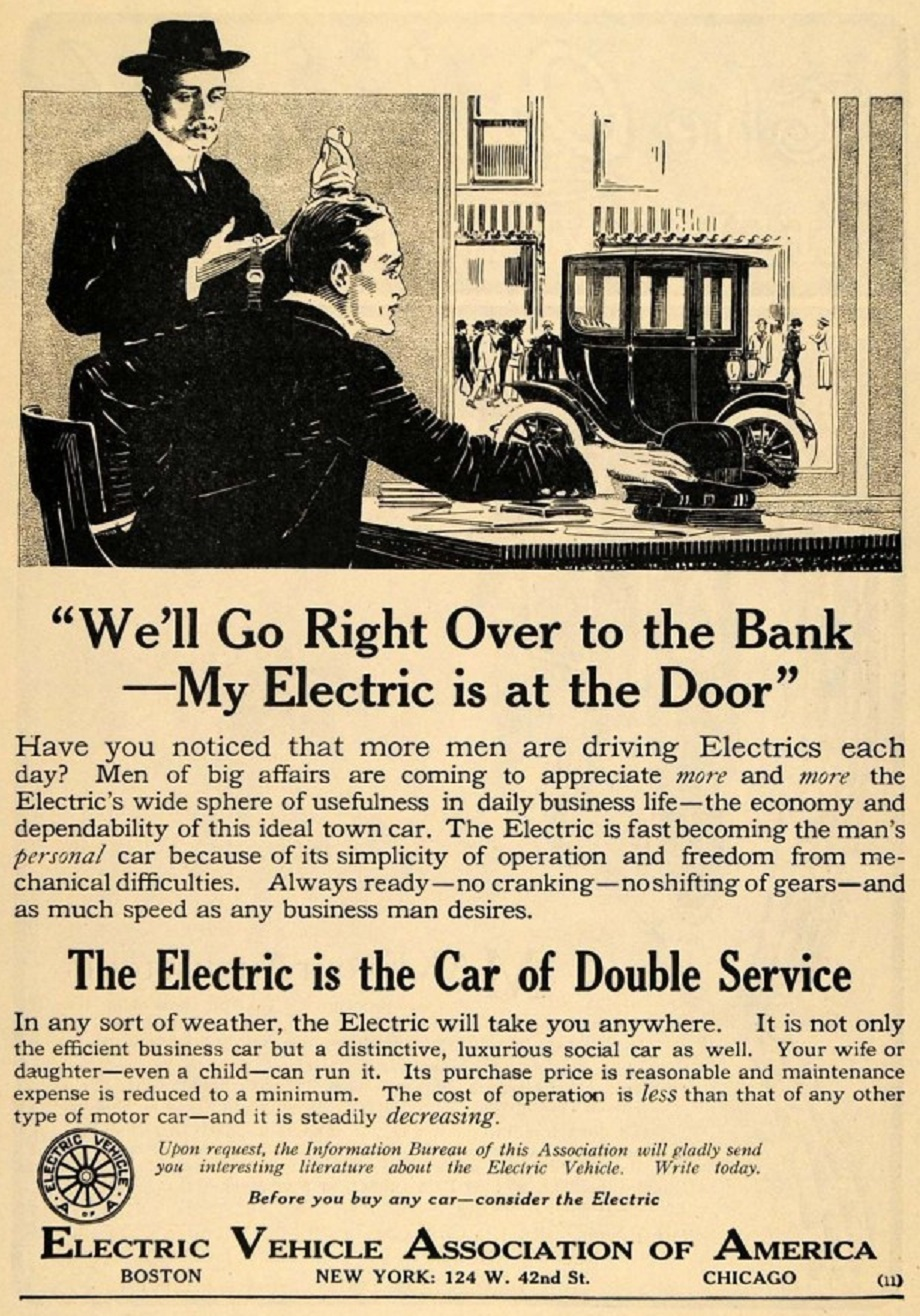 1912 electric vehicle association ad