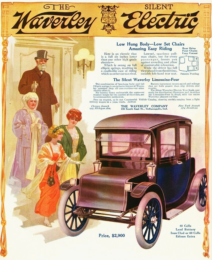1913 Silent Waverley Electric Limousine Four
