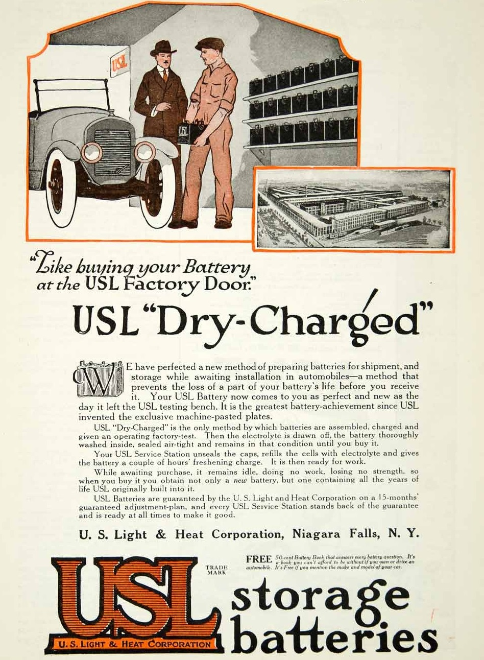 1919 USL Dry Storage Batteries