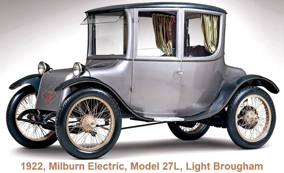 1922 Milburn Electric Model 27L Light Brougham
