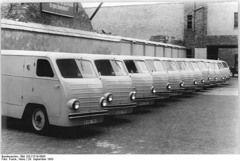1953 east germany electric post vans