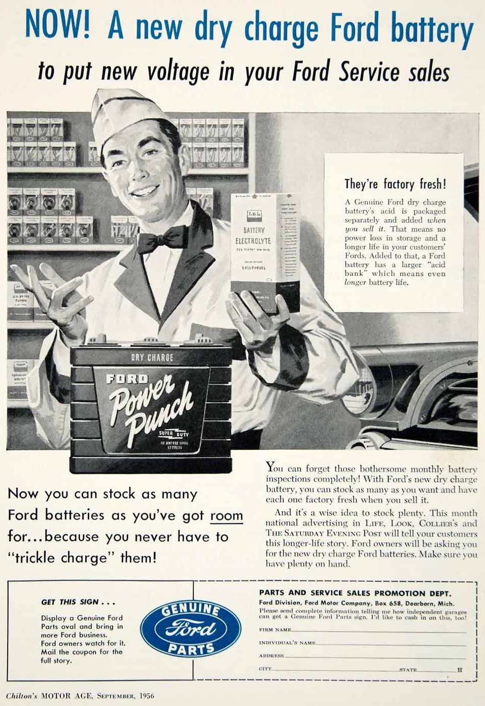 1956 Ford Battery