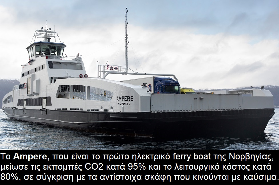 Electric ferry boat